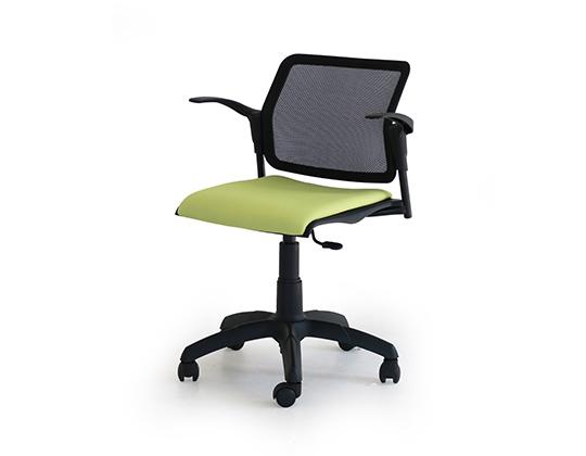 Movie mesh back swivel upholstered chair