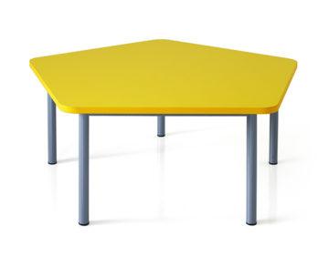 happy pentagon table