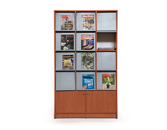 Media magazine rack