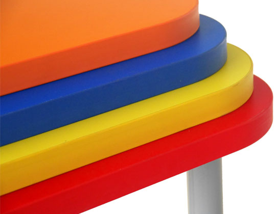 stacked color boards
