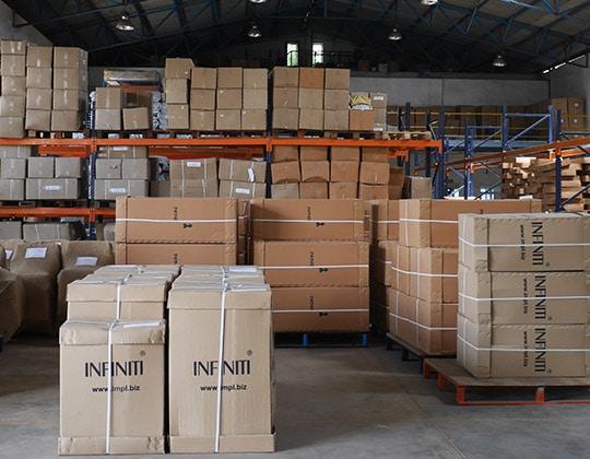 Infiniti boxes on shopfloor