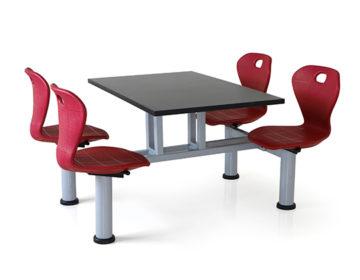 Quattro 4 seater cafeteria unit