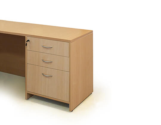 primo fixed drawer storage pedestal