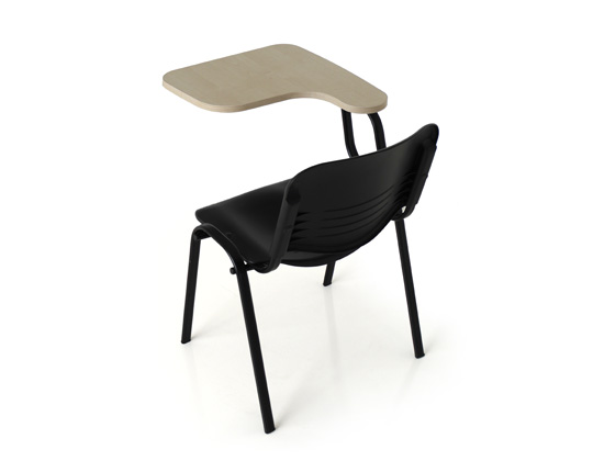 Twin fixed table chair