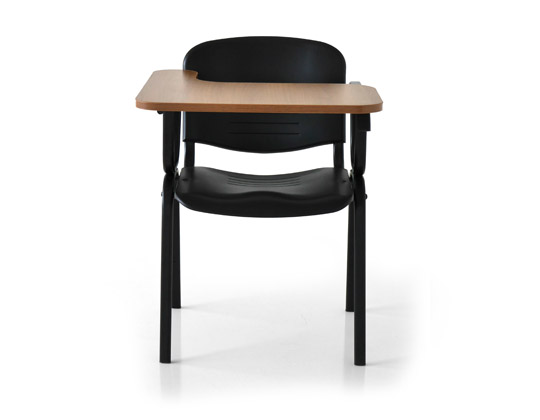 Twin tip-up tablet chair