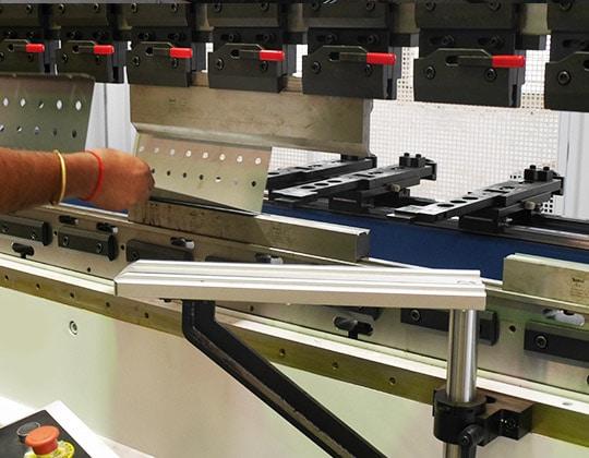 sheet metal bending close-up