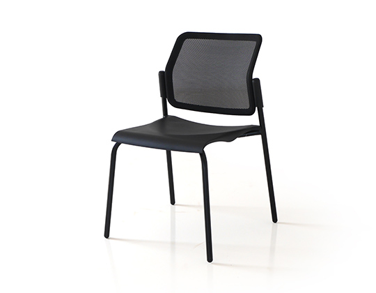 movie 4 legged mesh back chair