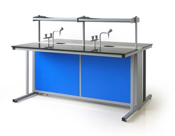 Infiniti chemistry laboratory with shelf