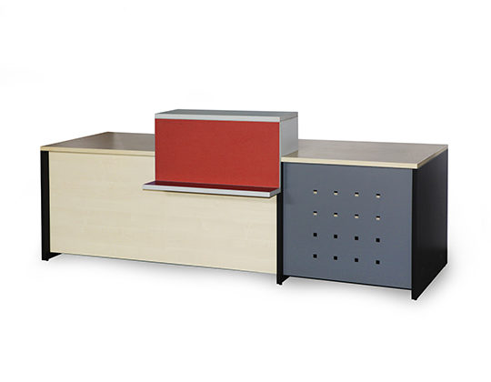 large reception counter